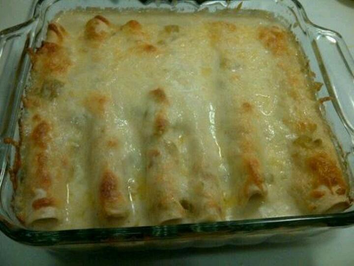 White chicken enchiladas | recipe | Pinterest