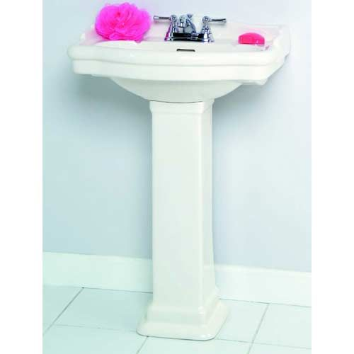 18 Pedestal Sink : ... Pedestal Sink Barclay Products Pedestal Bathroom Sinks Bath; 18 1/8in