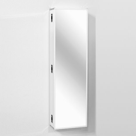 Over The Door Beauty Armoire With Full Length Mirror