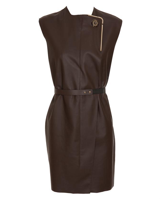 Leather tunic dress from Lanvin | Dream Closet | Pinterest