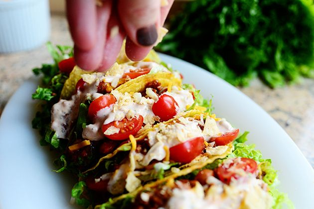 Salad Tacos by Ree Drummond / The Pioneer Woman, via Flickr - I like ...