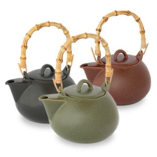Forlife bamboo handle teapot pottery thrown pinterest - Bamboo teapot handles ...