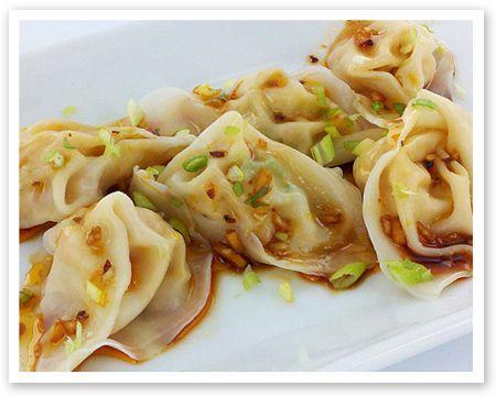 sichuan-shrimp-dumplings w/pepper sauce | My