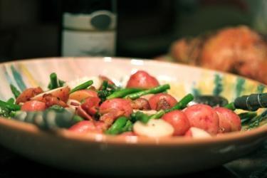 Asparagus, Bacon & New Potato Salad. | Delicious Food | Pinterest