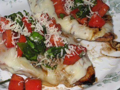 Balsamic Grilled Bruschetta Chicken
