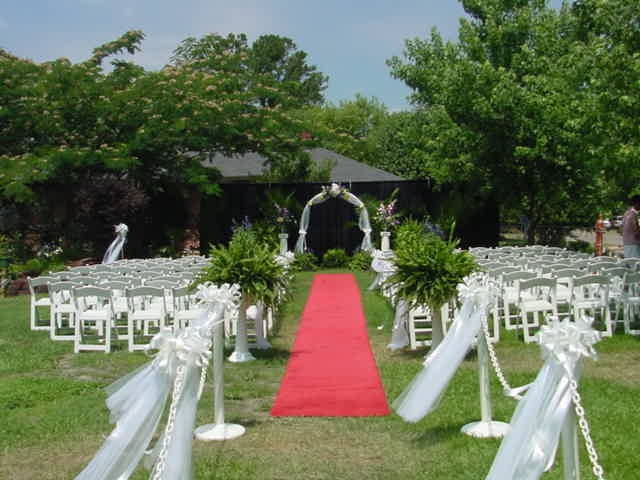 Back Yard Wedding Ceremony Decorations