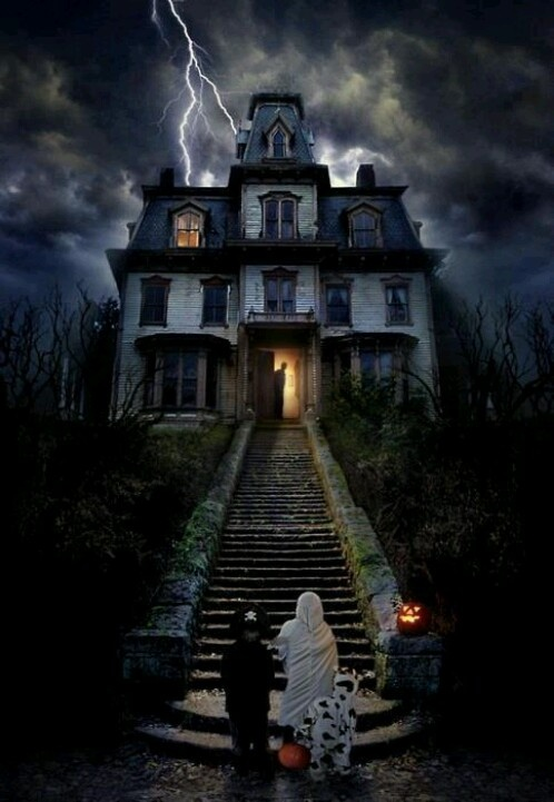 Cool haunted house vickie 39 s place pinterest for Pinterest haunted house
