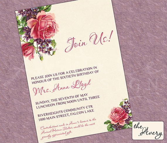 Avery Invitations was best invitations design