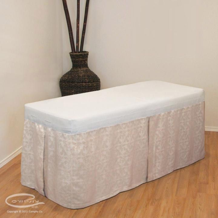 Spa Table Skirt | Decor ideas | Pinterest
