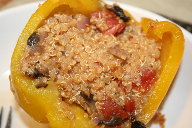 quinoa and mushroom stuffed peppers | Recipes To Try | Pinterest