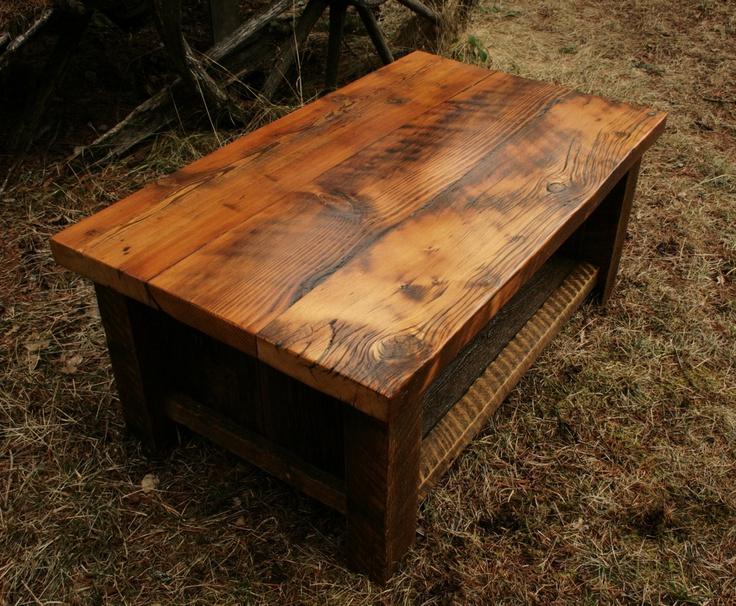 Rustic Reclaimed Barnwood Coffee Table 1 Texture 2
