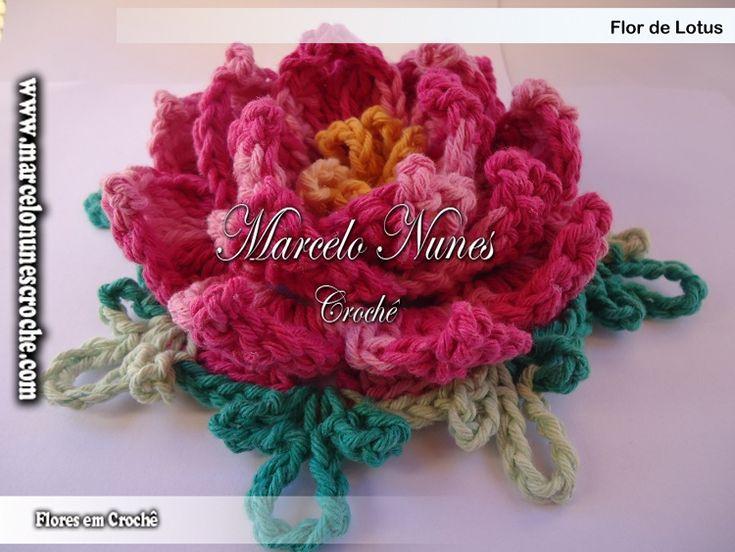 Flores em Croch? - Marcelo Nunes Flores de croch? Pinterest