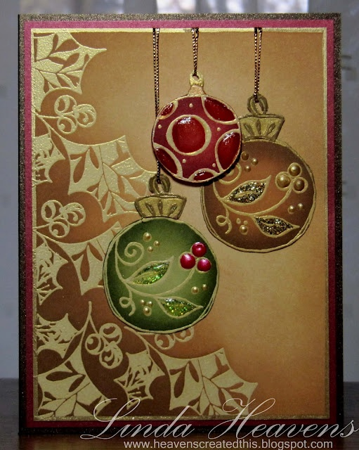 Love the look of these ornaments. Very appealing.