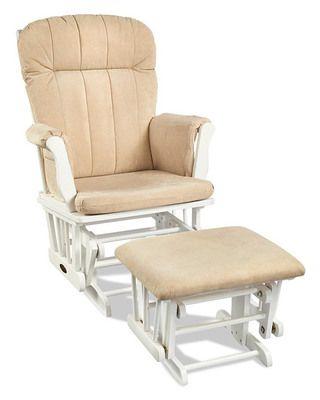 Nursery Glider Chairs: Glider Rocker with Ottoman (via Parents.com)