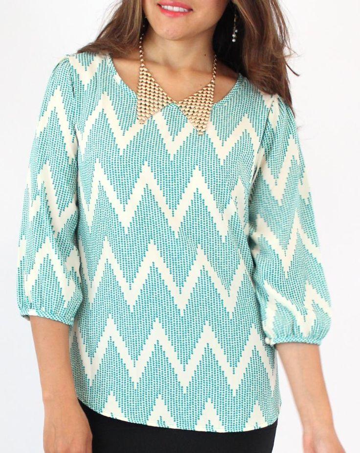 Creative Multicolor Chevron Print Blouse - Womenu0026#39;S Lace Blouses