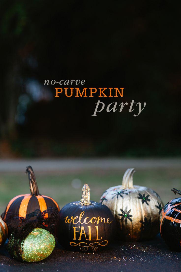 No-Carve Pumpkin Decorating Party