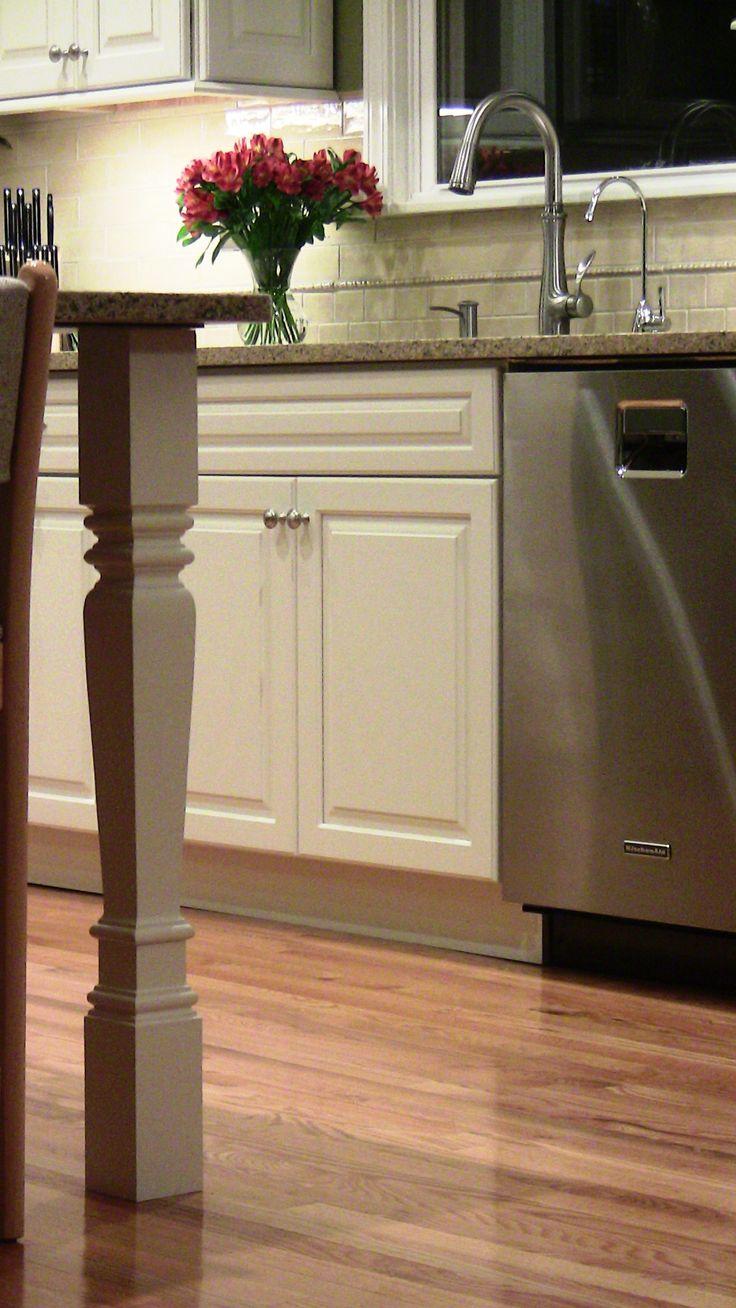 kitchen island legs home pinterest