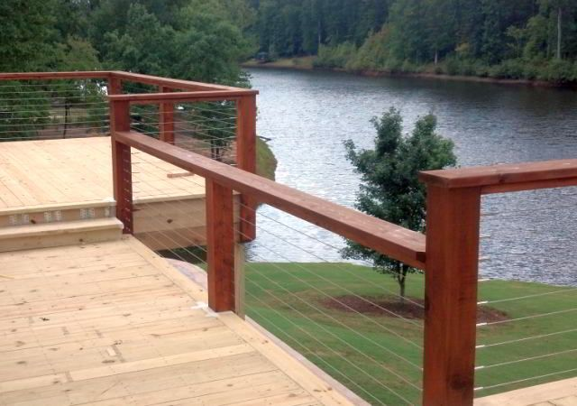 Deck cable railing residential pinterest