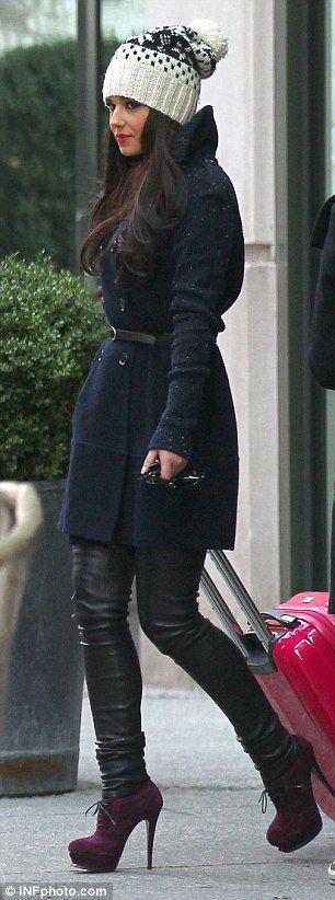 Cheryl Cole rocking winter style.