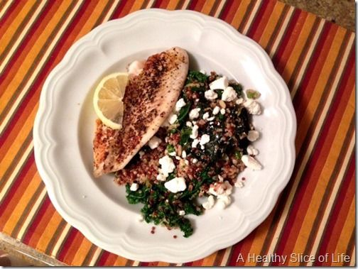 Slow-Roasted Wild Alaskan Salmon + One-Pot Kale and Quinoa Pilaf with ...
