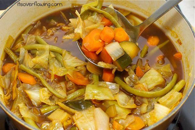 garden vegetable soup vegan recipes pinterest