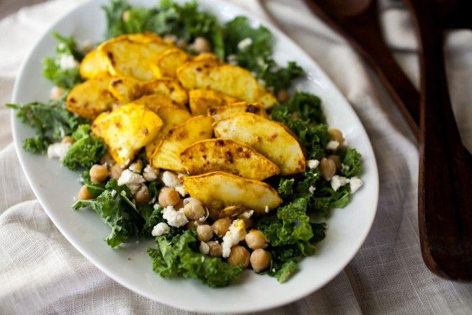 Naturally Ella | Curry Marinated Summer Squash Salad | Naturally Ella