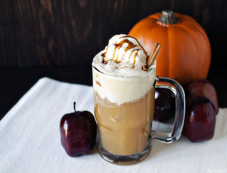 Apple Cider Ice Cream Float | Fall is in the air | Pinterest