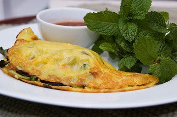 vietnamese rice crepes usually filled with pork shrimp and mushrooms ...
