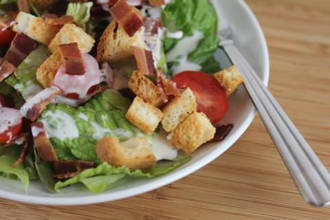 ... 14TH-20TH} including the recipe for this BLT Salad with GF Croutons