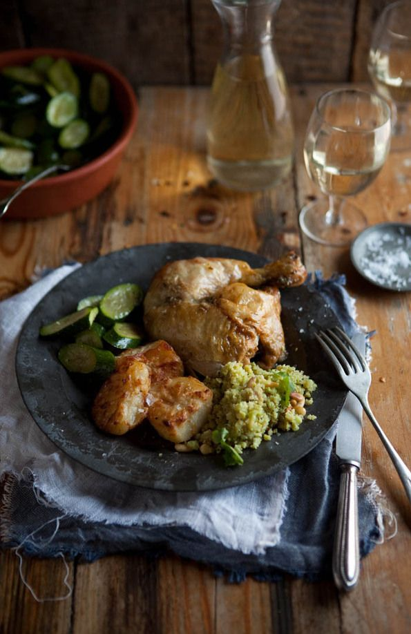 RECIPE - roast chicken with buttery moroccan spices