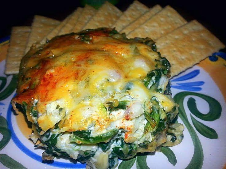 "Artichoke & Spinach Dip! "":ohyeaah"" @allthecooks #recipe #dip #..."