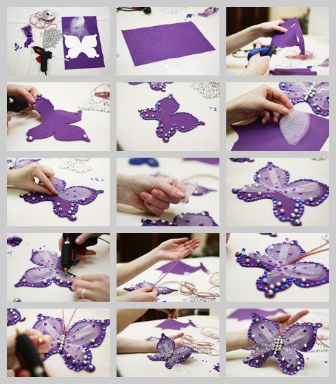 Butterfly diy butterfly quinceanera theme pinterest - Ideas para decorar con espejos ...