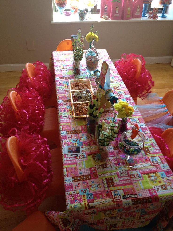 Table Set Up-Russian Doll  Russian Doll Party  Pinterest