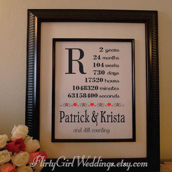 2nd Anniversary Cotton Gift - Wife Anniversary - Husband Gift - Anniv ...