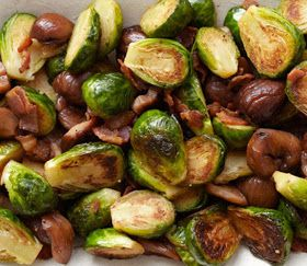 Doe-full: Brussels Sprouts with Bacon and Roasted Chestnuts...