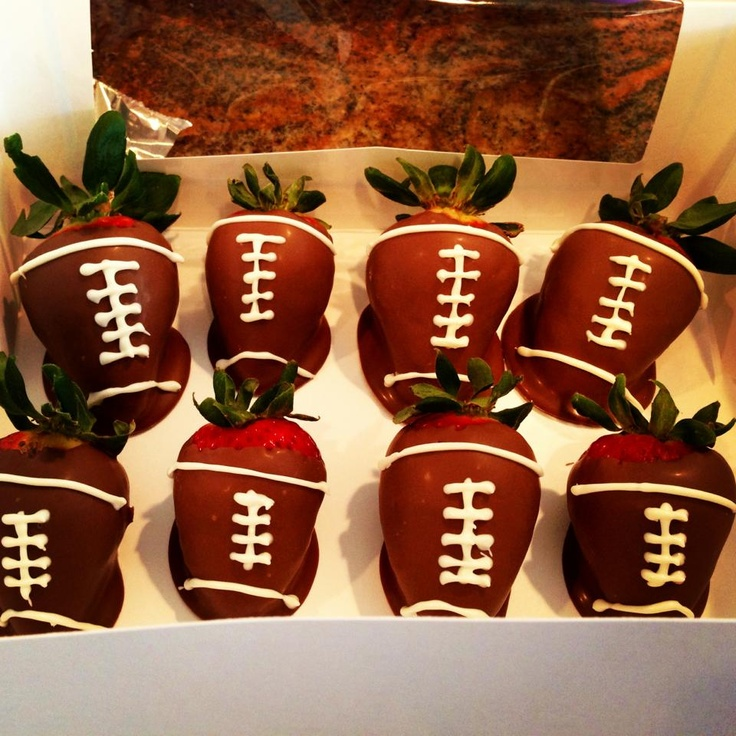 Chocolate Covered Football Strawberries | Brittnay's Bakery | Pintere ...