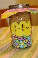 Easter S'more Peeps in a Jar