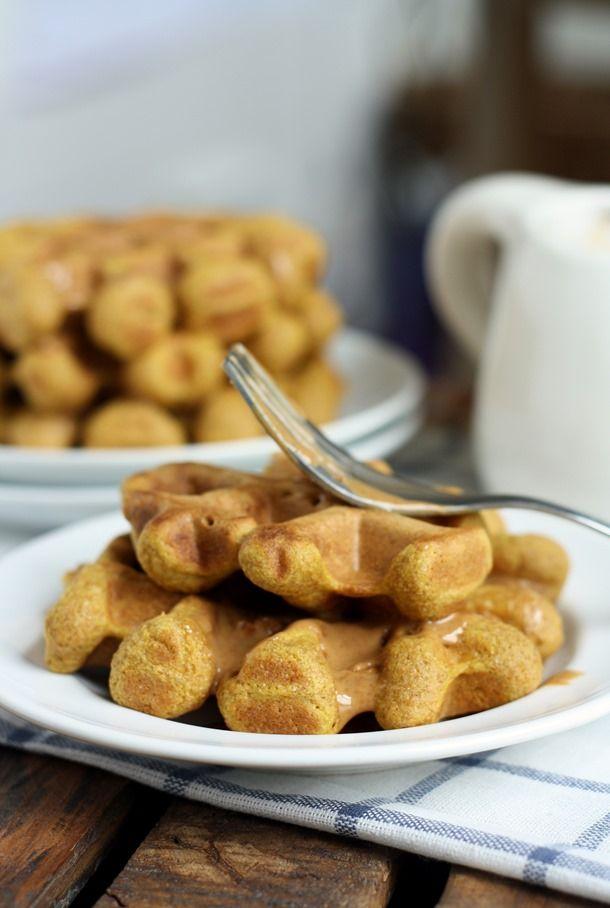 pumpkin pie spiced whole wheat waffles} | Breakfast | Pinterest