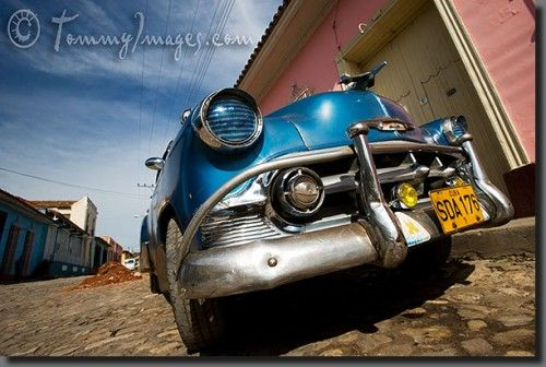 a blue Chevy