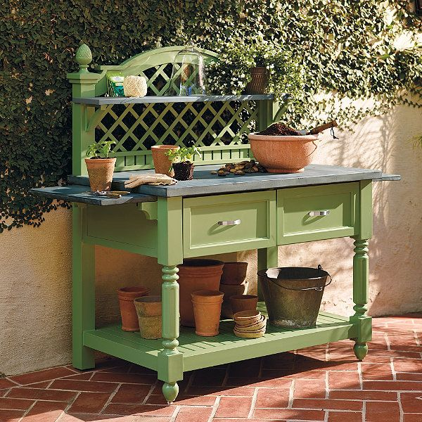 Caroline potting outdoor bench frontgate Outdoor potting bench