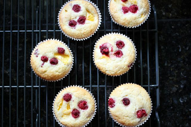 Raspberry Peach Muffins. I made these with cloudberries and they ...