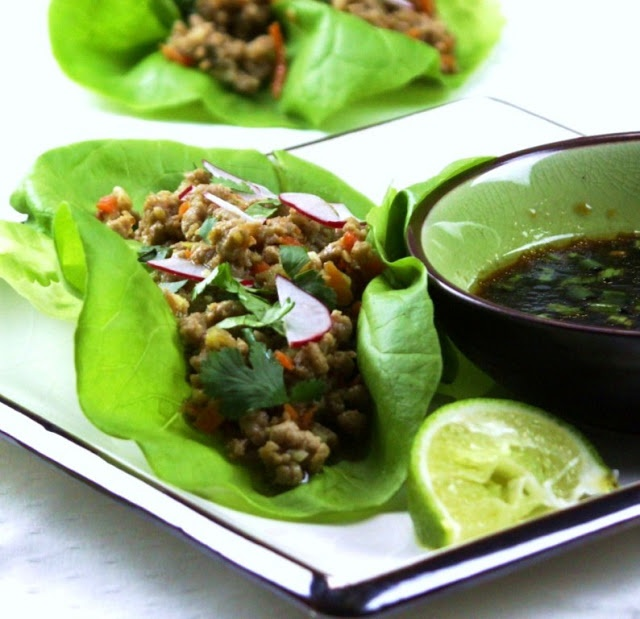 chicken thai style spicy chicken in lettuce cups thai style chicken ...