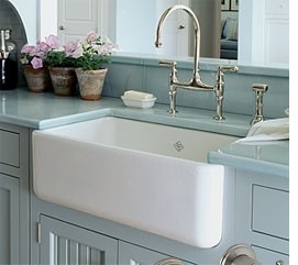 Blue Farmhouse Sink : blue + farmhouse sink by belinda The Homemade Farm Pinterest