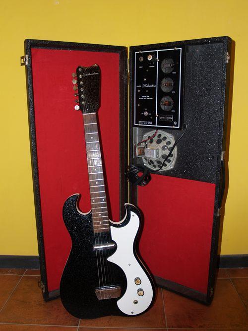Silvertone amp in case Guitars Pinterest
