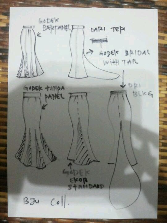 Skirt Kembang Payung Pola