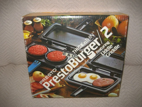 vintage presto burger 2 griddle hamburger cooker new. Black Bedroom Furniture Sets. Home Design Ideas