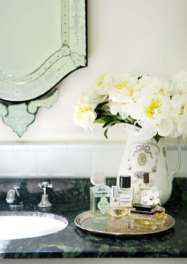 Bathroom perfume tray bath pinterest for Bathroom tray decor