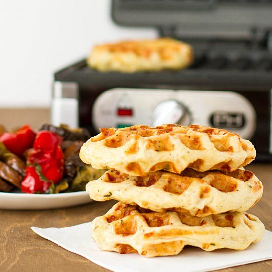 Savory cheese & herb yeasted waffles. | Morning Cravings | Pinterest