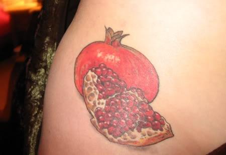 Pomegranate tattooPomegranate Fruit Tattoo