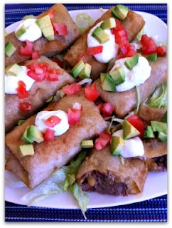 Shredded Beef Chimichangas (Slow Cooker)   Yummy food ideas   Pintere ...
